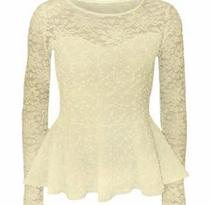 Fashion 4 Less Womens Long Sleeve Lace Mesh Peplum Top (SM-UK(8-10), Cream) Soft and ComfortableLadies Lace Mesh Sleeve Peplum TopLong SleeveScoop NecklineExcellent QualitySuper Soft Stretchy Material (Barcode EAN = 5055856606505). http://www.comparestoreprices.co.uk/celebrity-fashion/fashion-4-less-womens-long-sleeve-lace-mesh-peplum-top-sm-uk-8-10--cream-.asp
