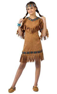 Girls Native American Indian Girl Costume