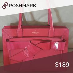 kate spade Helena Big Bow Valley Gorgeous bag in NEW condition. I have never worn this bag and it breaks my heart to see it just sitting there. She deserves more than I can offer right now due to my bag collection being completely out of control! Retailed for 430.00! Comes with dust bag. Bags Satchels