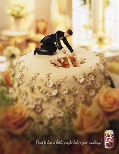 Slim Fast Wedding Cake Topper Ads: Cool or Not? Funny Wedding Cakes, Wedding Humor, Wedding Cake Toppers, Wedding Stuff, Crazy Wedding, Wedding Tags, Wedding Ideas, Tree Wedding, Wedding Bells