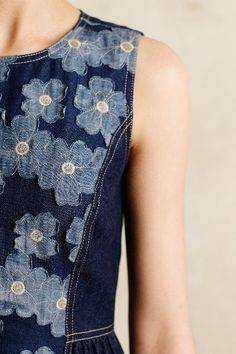 Daisy Denim Dress - anthropologie.com Love the design within the denim