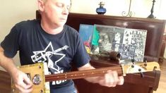 How to Play Honky Tonk Woman on a 3 string Slide cigar box guitar by Nigel McTrustry Guitar Musical Instrument, Guitar Tabs, Guitar Songs, Musical Instruments, Music Lessons, Guitar Lessons, Cigar Box Guitar Plans, Cigar Box Nation, Music Tabs
