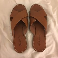 Madewell Boardwalk Sandals Brown leather sandals. Never been worn! Madewell Shoes Sandals