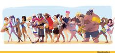 Blizzard,Blizzard Entertainment,фэндомы,Overwatch art,Overwatch,superrisu,Tracer,Widowmaker,Ana Amari,Pharah,Mercy (Overwatch),Soldier 76,Reaper (Overwatch),McCree,Hanzo,Symmetra,Zarya,Mei (Overwatch),Junkrat,Roadhog,Lucio,D.Va