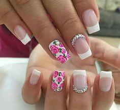 Cute Nail Art, Cute Nails, Simple Nail Designs, Nailart, Beauty, Nail Art, Nail Bling, Finger Nails, Home