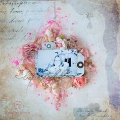 Layout by Amelie Jutras Writer's Block, Scrapbooking Ideas, Mixed Media, Dots, Layout, Journal, Boutique, Studio, Beautiful