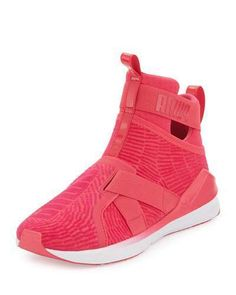 Puma Fierce High Top Strap Flocking Sneaker Blue Men Shoes