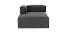 Quadra Carbon Gray Left Arm Chaise - Sectionals - Article | Modern, Mid-Century and Scandinavian Furniture