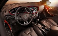 """Italian design with 8.4"""" LCD center touch screen and 7"""" LCD in the gauge cluster...plus 40 MPG engine options...and did I mention it's made in Illinois???  New Dodge Dart..."""