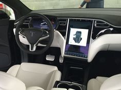 #2016 #Tesla Model X Interior