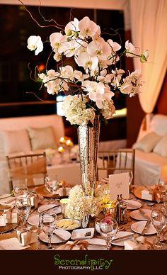 Houston wedding photographer, St George Orthodox Christian Church Ceremony, Sam Houston Hotel Reception, centerpiece
