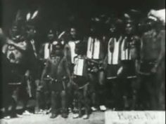 Sioux Ghost Dance, 1894, filmed by Thomas Edison. This dance was what intimidated the US Army and lead directly to the Massacre at Wounded Knee in 1890, while the Oglala Lacota were in the middle of their Ghost Dance. Based on spiritual principles of uniting ancestors with the living, this dance is of utmost cultural importance in United States History. More here:   http://en.wikipedia.org/wiki/Ghost_Dance