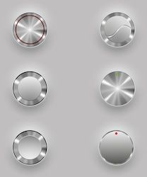 Find Metal Buttons stock images in HD and millions of other royalty-free stock photos, illustrations and vectors in the Shutterstock collection. Ui Buttons, Metal Buttons, Web Design, Industrial Design Sketch, Metal Texture, Wearable Device, Design Language, Interface Design, User Interface