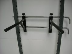 """Pair Power Rack Dip Attachments for 1"""" Safety Bars Adjustable Width Barbells4me http://www.amazon.com/dp/B00GJ1K4W8/ref=cm_sw_r_pi_dp_cRl0wb1VC181S"""