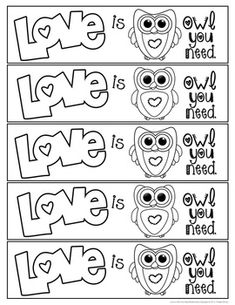 FREE OWL BOOKMARKS FOR VALENTINE'S DAY - TeachersPayTeachers.com