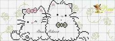 Bordado de gatinho :3 Amo vocês ♡