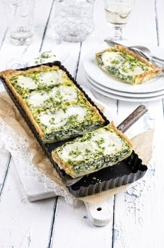 Tarte mozzarella - Olivia S. Easy Healthy Recipes, Veggie Recipes, Wine Recipes, Vegetarian Recipes, Cooking Recipes, Mozzarella, Salty Foods, Food Tasting, Pizza