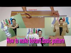 How to make leotard basic pattern  Video#29 - YouTube