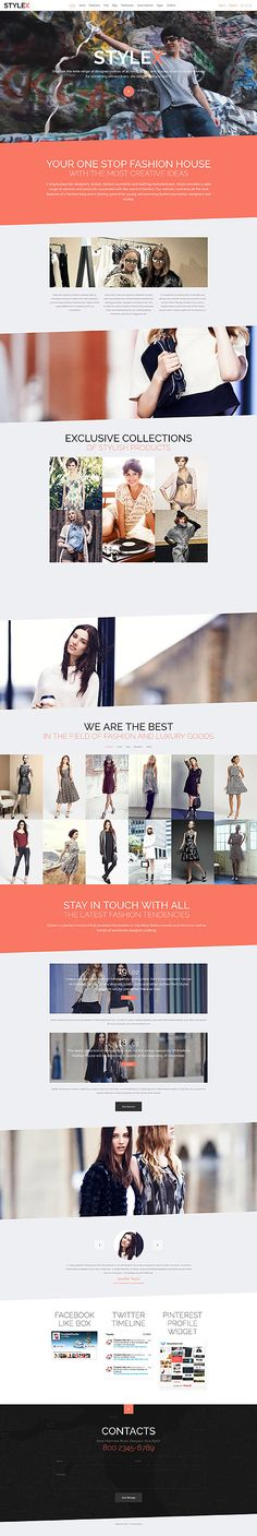 Template 58381 - Stylex Clothes  Responsive Joomla Template
