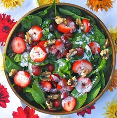 Spinach Salad with Sweet Poppyseed Dressing