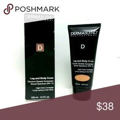 Dermablend Leg and Body Cover Make-Up SPF 15, Toast. 3.4 oz. High performance technology, full coverage body foundation. An improved lightweight formula with SPF 15 and high purity pigments. Leg and Body Cover offers improved skin tone shades and texture to deliver a flawless look and 16 hours of consistent color wear. dermablend Makeup Concealer