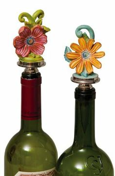 """Madison's Garden,Wine Stopper,Metal and Ceramic,2.25x2.25x5 Inches,Assorted 2 by Cypress Home. $29.99. The size is: 2.25""""x2.25""""x5"""". Individually wrapped and packaged in a giftable box. Assorted 2. Durable metal wine stopper with a hardy rubber stop for a tight seal. Don't let your good wines go bad! Save them for later with this stunning winestopper, that is sure to turn heads.. Save 33%!"""