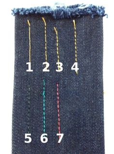 Top stitching test! When sewing jeans you have several different options  for what to use 5fca9b6b603