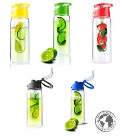 Botella para saborizar tu agua de manera natural!! Botella con difusor. 800 ml.