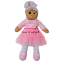 Ballerina Rag Doll Personalized, Personalised Rag Doll, Custom Rag Doll, Cloth…