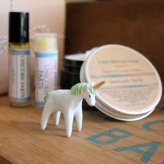 Unicorn Farts set ('What do unicorn farts smell like, you ask? Why, they smell like pink cotton candy and spearmint, everybody knows that'); $52