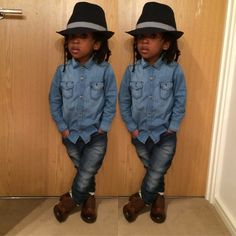 Sweet Photos Of Young Twin Brothers Stylishly Dressed In Matching Dapper Outfits - DesignTAXI.com