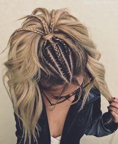 "11.6k Likes, 442 Comments - Jordan Pomeroy (@jbraidsandbows) on Instagram: ""Triple braid slay 🔪 • • • • • • • • extensions by the fab @hairbysaretta 🤩 @jbraidsandbows…"" Ponytail Hairstyles, Girl Hairstyles, Short Hair Makeup, Beautiful Haircuts, Lush, Dream Hair, Headbands, Hair Hacks, Dreadlocks"