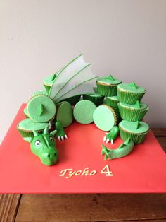 Draak cupcake