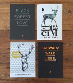Postkarten - Schwarzwald- Postkarte HEIMAT - ein Designerstück von Heimwerk_Design bei DaWanda