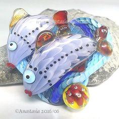 ANASTASIA-handmade-lampwork-bead-1-focal-FISH-DUO-SRA http://www.ebay.com/itm/262486945053?ssPageName=STRK:MESELX:IT&_trksid=p3984.m1555.l2649