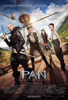 Pan, il film di Joe Wright con Hugh Jackman e Amanda Seyfried, dal 12 novembre al cinema.