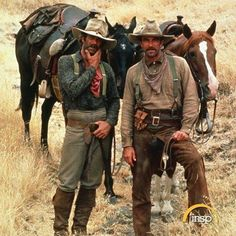 Sam Elliott and Tom Selleck in The Shadow Riders-1982.