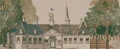 Het Catshuis, begin 18de eeuw. (Collectie Schoenmaker)