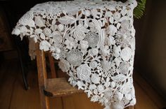 Vintage White Lace/Applique by smileitsvintage on Etsy, $12.00