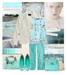 Paradise is a place on earth... by gul07 on Polyvore featuring мода, Thakoon, Madewell, J.Crew, Salvatore Ferragamo, Genie by Eugenia Kim, Salt Water Sandals, Deborah Rhodes, Anastasia and Mondaine