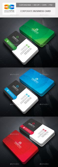 Corporate Business Card Template #design Download: http://graphicriver.net/item/corporate-business-card/12422479?ref=ksioks