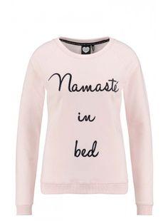 IN BED Catwalk Junkie  Dames Sweater  Lange mouwen Ronde hals Namasté in bed  Licht roze Katoen