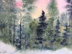 Snowy forest by Maria Boddett at Floral Arts in St Joseph MN Shop Today