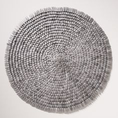 """leigh suggs, 24"""" diameter - made of security envelopes"""