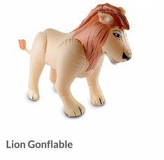 Lion gonflable idéale pour une décoration d'anniversaire ou de baptême sur le thème Safari, Jungle ou cirque Decoration Cirque, Safari Jungle, Dinosaur Stuffed Animal, Lion Sculpture, Statue, Animals, Art, Safari Theme, Birthday Display