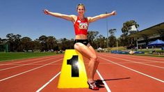 SPORT: Canberra's Melissa Breen breaks the Australian 100m record in 11.11 seconds during the ACT championship heats and also wins the final against Sally Pearson at the AIS track, Canberra. . 9th February 2014. Photo by Melissa Adams of The Canberra Timesasda