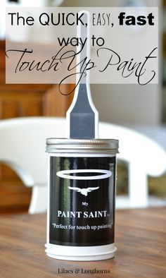 The Best Way To Touch Up Paint Http Www Lilacsandlonghorns