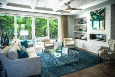 Family room ~ Nedel Model by David Neden in Olde Naples ~ Interior design by Cherie Baer, Robb & Stucky Naples ~ 2014 Sand Dollar Award recipient for Interior Design of the Year