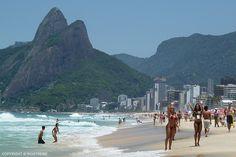 Rio 2016 Ipanema Beach Summer Olympic games in Rio de Janeiro Brazil