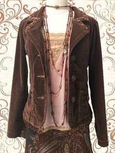 Steampunk jacket  Boho Chic Jacket Janis Joplin look by CivisMundi